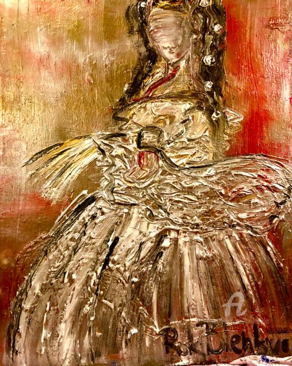 """Painting titled """"""""The Empress Sisi"""""""" by Rok Blenkuš, Original Art, Acrylic Mounted on Stretcher frame"""
