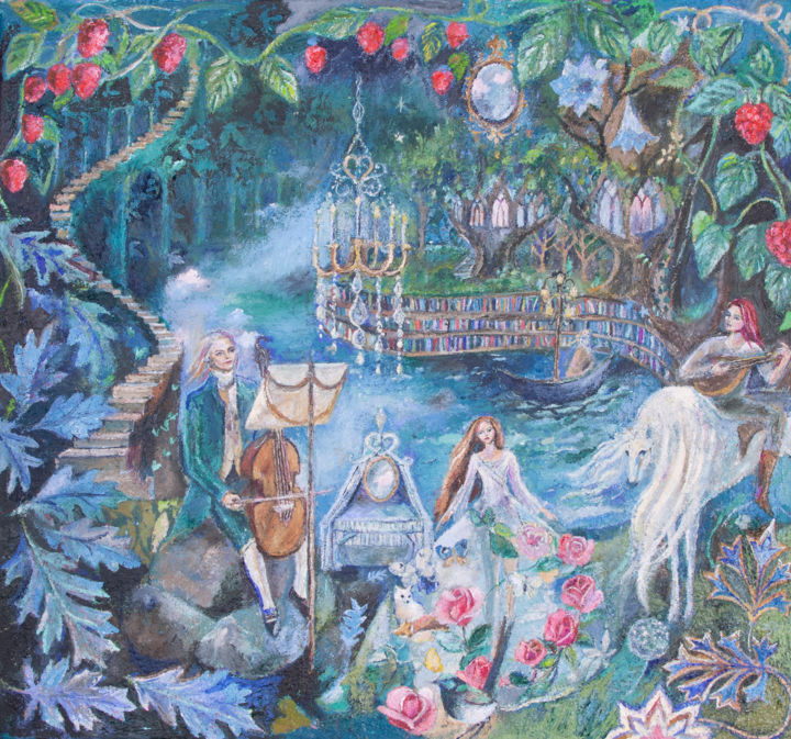 """Painting titled """"Faerie Underground"""" by Romany Steele, Original Art, Oil"""