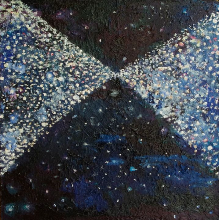 """Painting titled """"pyramidconstelation…"""" by Romany Steele, Original Art, Oil"""