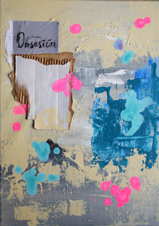 """Painting titled """"Es una obsesion"""" by Romilios, Original Art, Acrylic"""