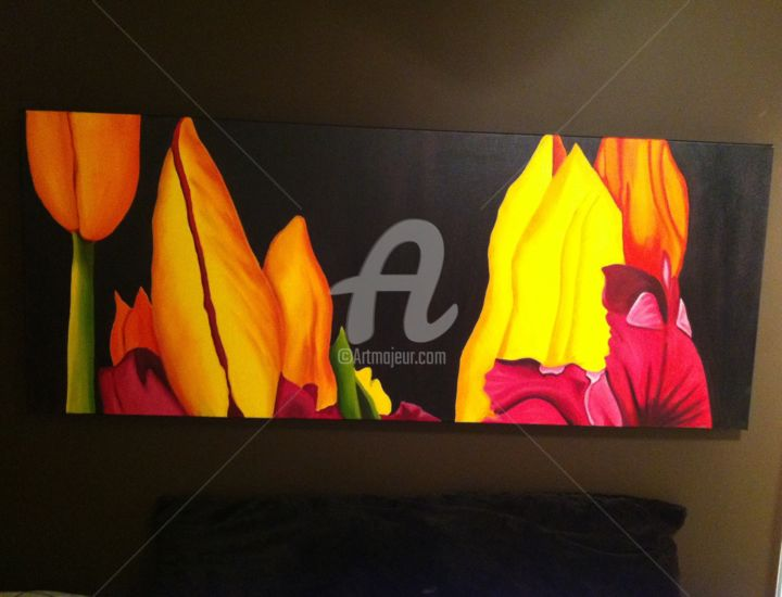 """Painting titled """"Tulip abstract"""" by Ronald Egan, Original Art,"""