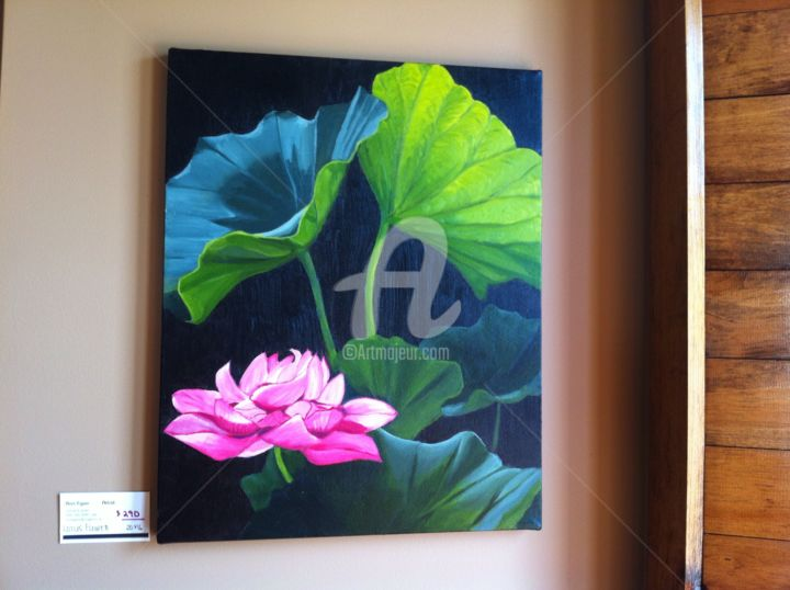 """Painting titled """"Pink Water lily"""" by Ronald Egan, Original Art,"""