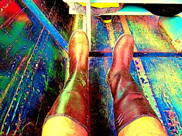 """Photography titled """"Boots 39"""" by Ronald Ronald Walker, Original Art, Manipulated Photography"""