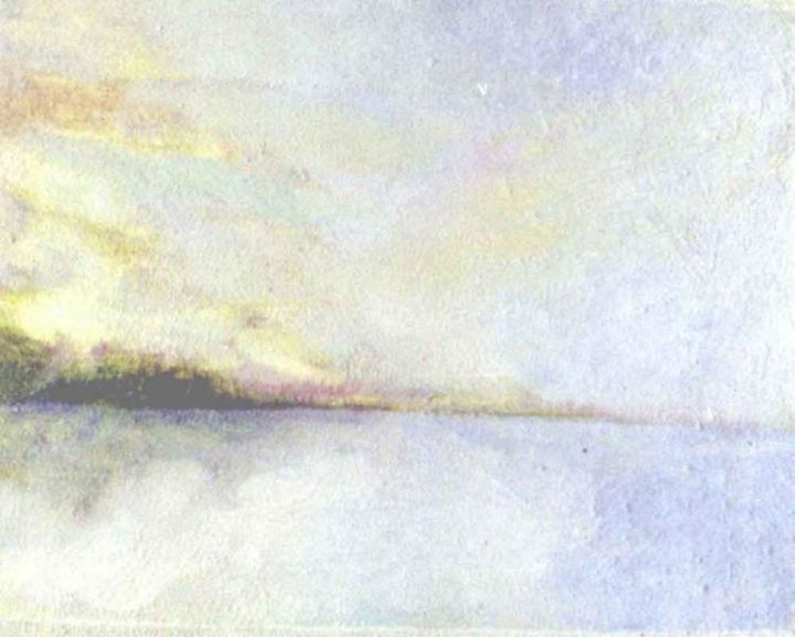 """Painting titled """"Seascape"""" by Ronald Newman, Original Art, Oil"""