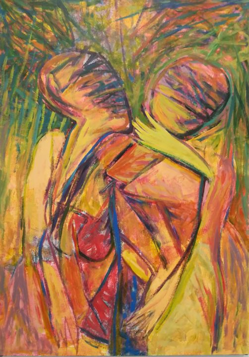 """Painting titled """"Human beings"""" by Stoilov Roumen, Original Art, Acrylic"""