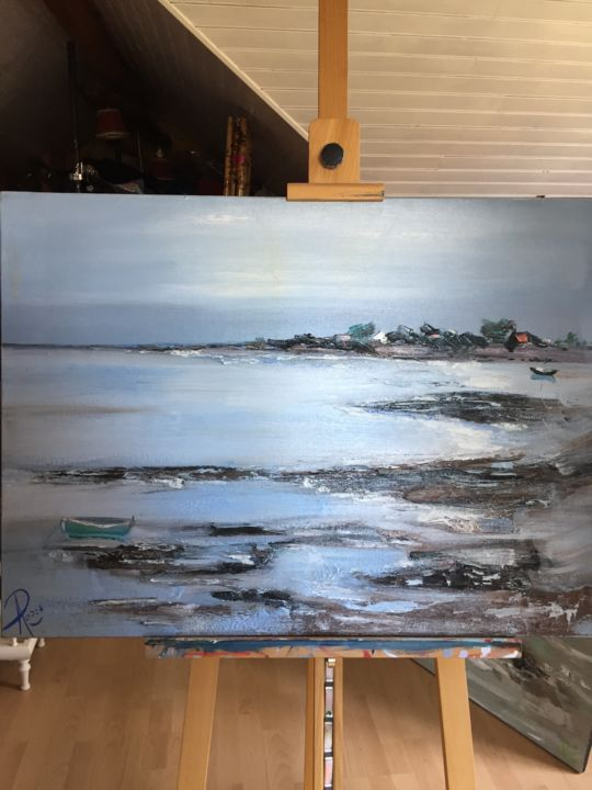 paysage marin - Painting, ©2005 by catherine roose -                                                                                                                                                                          Figurative, figurative-594, Seascape