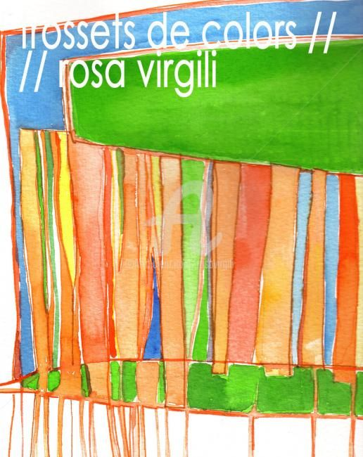 Painting, oil, expressionism, artwork by Rosa Virgili Abelló