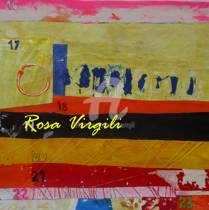 La capsa de les reflexions. El color dels dies //  The box of thoughts. The color of the day - Painting,  11.8x11.8 in, ©2014 by Rosa Virgili Abelló -                                                                                                                                                                                                                                                                                                              Abstract, abstract-570, rosa virgili, rosa virgili abello, generando arte, arte01