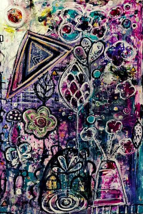 """Painting titled """"Bloom-In"""" by Imuni, Original Art, Acrylic"""