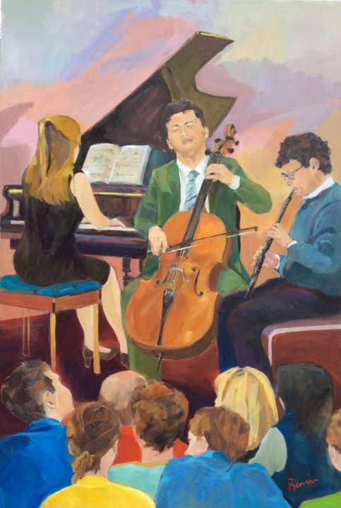 Musical evening - © 2018 musical instruments colour, family  people Online Artworks