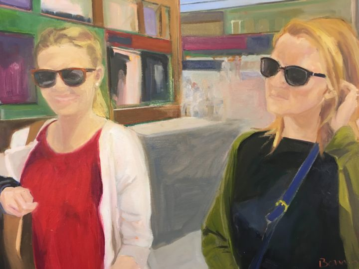 """Painting titled """"Lucy and Claire sho…"""" by Rosemary Bonnin, Original Art, Oil"""