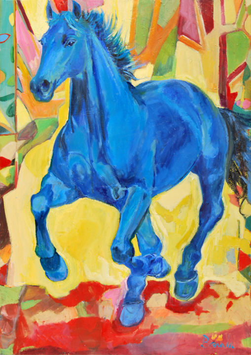 """Blue Horse"" Horse paintings by Rosemary Bonnin - © 2013 Blue horse Online Artworks"