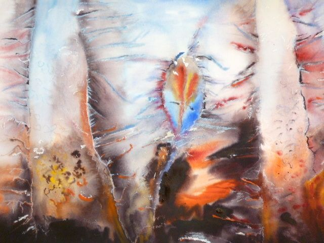 Givre - Painting,  19.7x27.6 in, ©2010 by Michèle Rossetto -