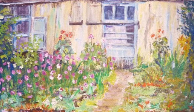Le cabanon - Painting ©2010 by Michèle Rossetto -