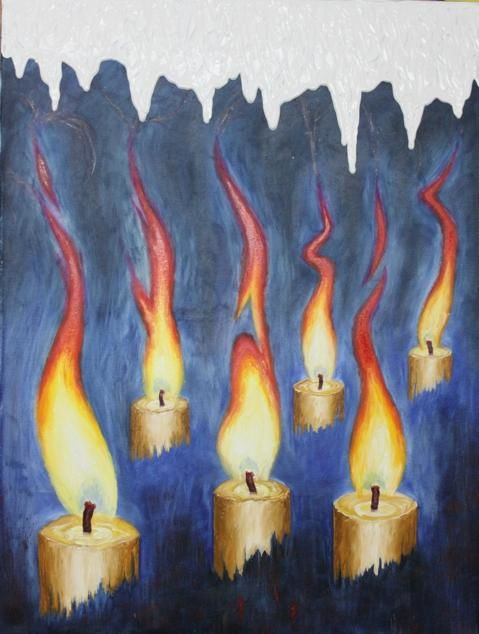 The heat of candles will melt ... - Painting,  60x80 cm ©2012 by RoStotskiy -