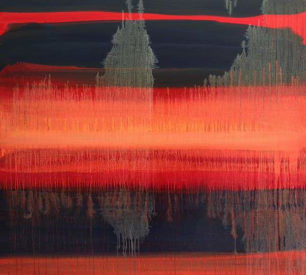In Fusion - Painting,  35.4x39.4 in, ©2011 by Roberto Rotondo -