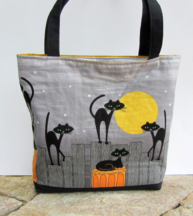 Sac en tissu stray cats - Design, ©2017 by FrenchChiffonDesigns -                                                                                                                                                                                                                                                                                                                                                                                                                                                                              Animals, Cats, Women, sac chats, sac femme, motif chat, sac cabas, sac d'épaule, sac créateur, sac unique