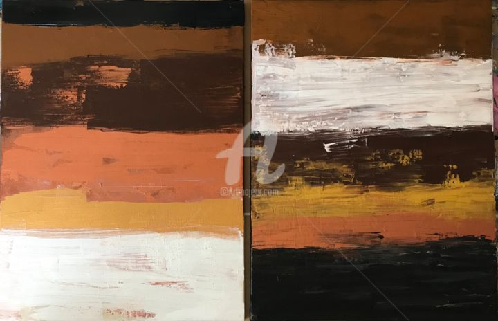 Perfect sunset - Painting ©2018 by Artstation Roxani Rohner -                                        Abstract Art, Canvas