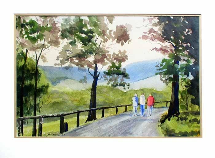 """Painting titled """"A Walk in the Dande…"""" by Roy Boston, Original Art, Oil"""