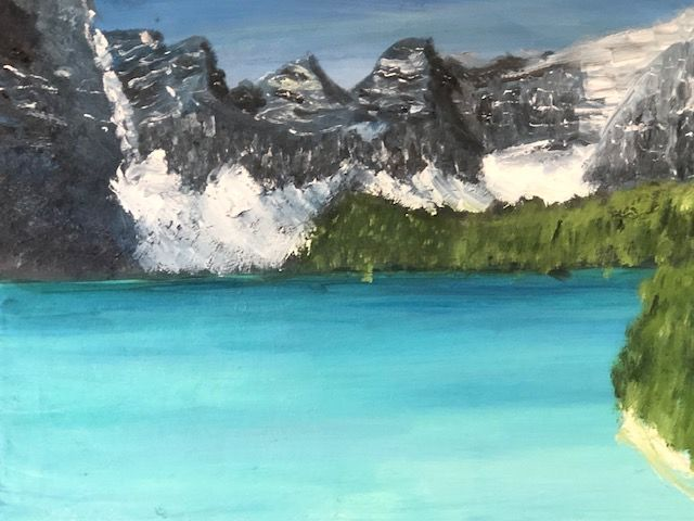 """Painting titled """"Rockies"""" by Ralph S Mitchell, Original Art, Oil"""