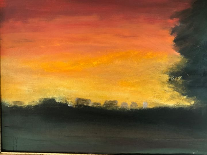 """Painting titled """"Last tree"""" by Ralph S Mitchell, Original Art, Oil"""