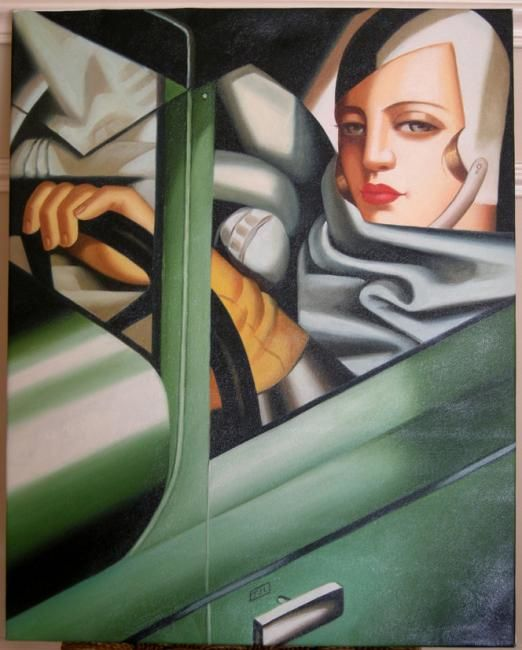 de lempicka tamara dans une bugatti verte alain dreyer. Black Bedroom Furniture Sets. Home Design Ideas