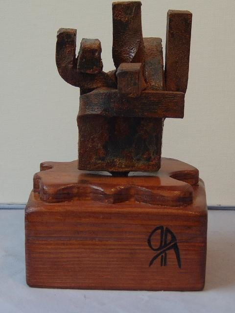 RECUERDO A CHILLIDA - Painting ©2008 by Ruben Ibañez Andres -