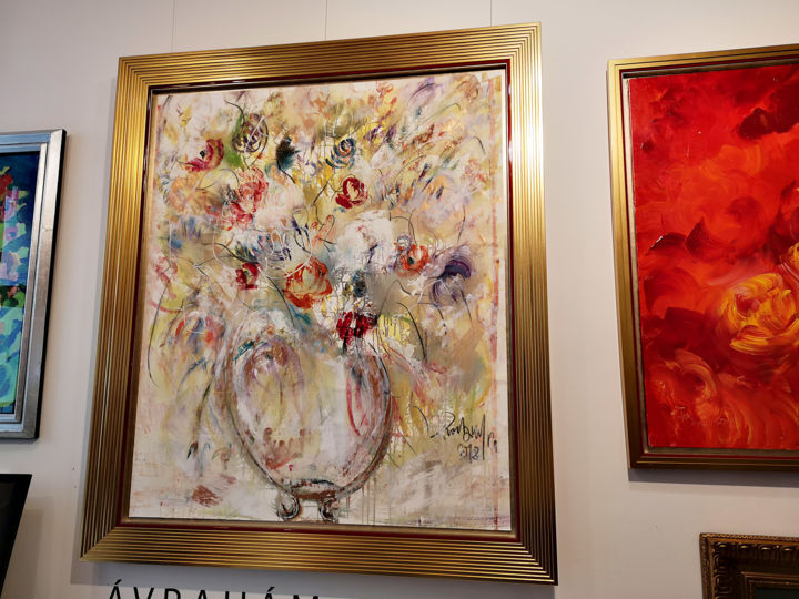 """Painting titled """"Flowers in air"""" by Rubint, Original Art, Oil"""