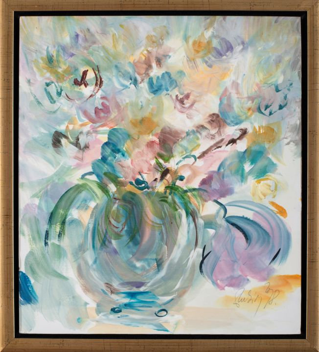 """Painting titled """"Flowers of spring"""" by Rubint, Original Art, Oil"""