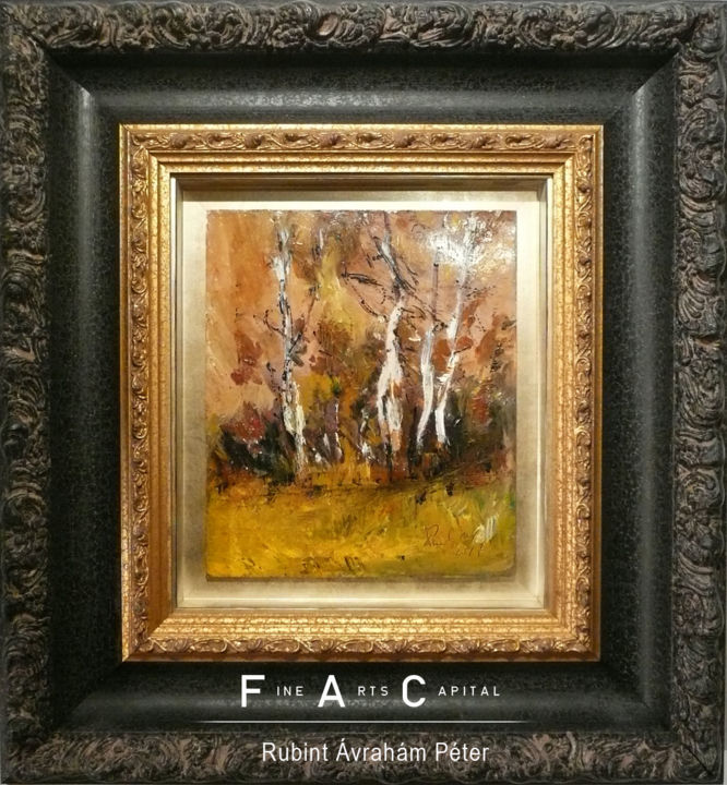 """Painting titled """"In forest"""" by Rubint, Original Art, Oil"""