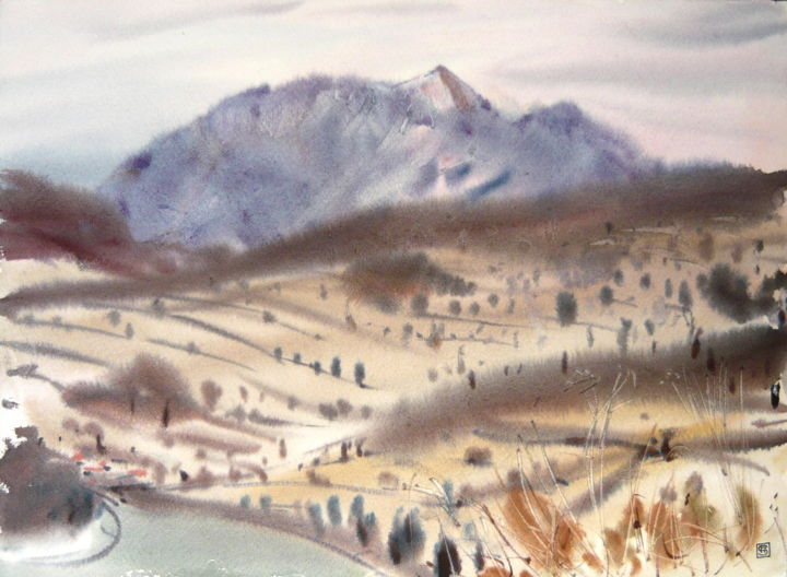 """Painting titled """"Osobitá"""" by Rudolf Suran, Original Art, Watercolor"""