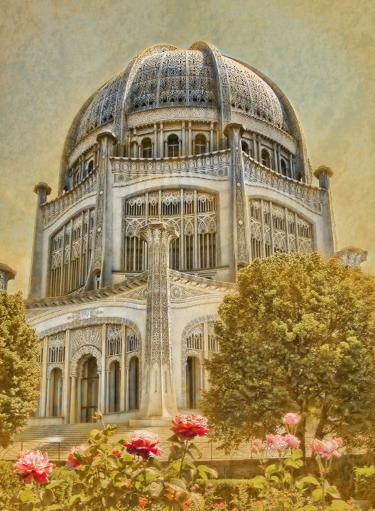 """Photography titled """"Baha'i  Temple in W…"""" by Rudy Umans, Original Art,"""
