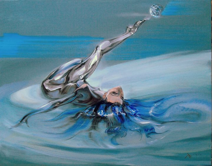"""Painting titled """""""" Cancer """""""" by Rumen Dimitrov, Original Art, Oil"""