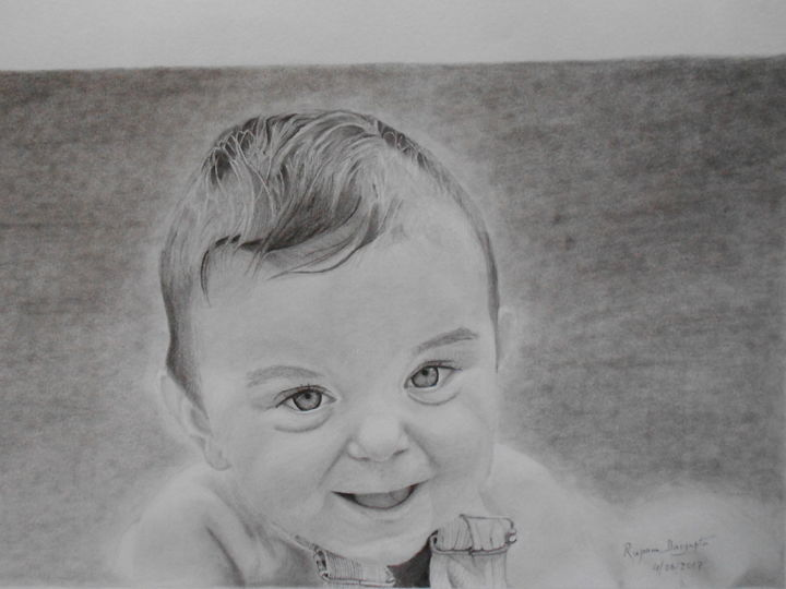 Loughing baby jpg drawing 28x38x0 1 cm