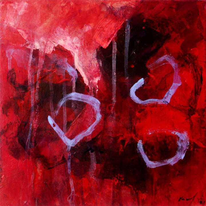 """Painting titled """"between the walls II"""" by Rupert Cefai, Original Art, Acrylic Mounted on Cardboard"""