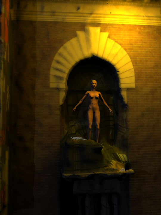 """Digital Arts titled """"The Captive Yearning"""" by Russell Newell, Original Art, 3D Modeling"""