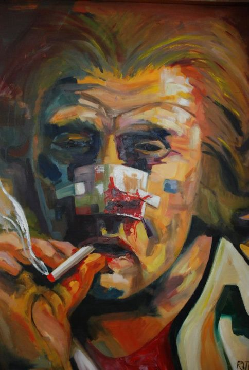 """Painting titled """"""""Syphilistic"""""""" by Rutko, Original Art, Oil"""