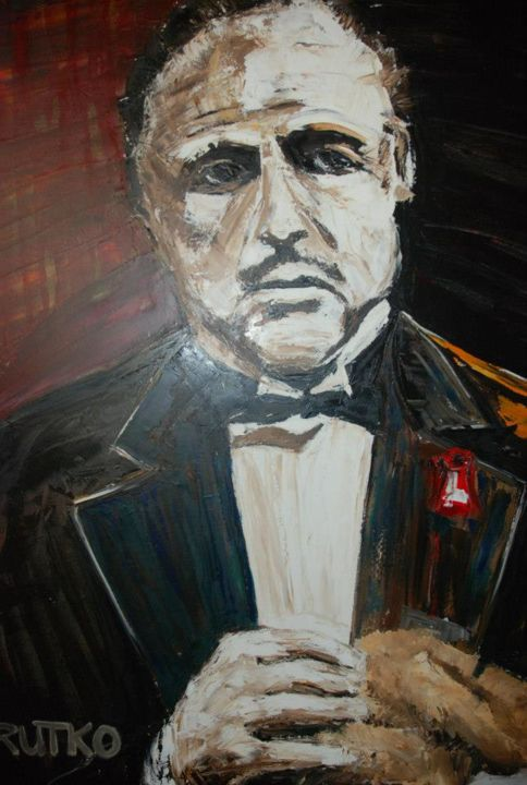 """Painting titled """"The Godfather"""" oil…"""" by Rutko, Original Art, Oil"""