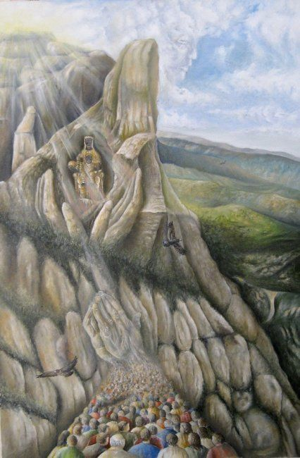 """Painting titled """"The mountain legend…"""" by Rws1968, Original Art, Oil"""