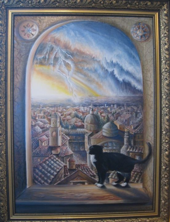 """Painting titled """"I go on the thunder…"""" by Rws1968, Original Art, Oil"""