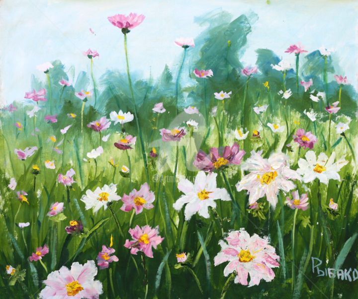 Fresh flowers flowers oil painting for sale rybakow fine art fresh flowers flowers oil painting for sale painting 2x70x59 cm 2012 by izmirmasajfo Images