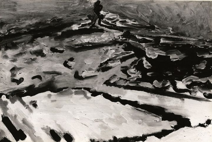 black-and-white-studies-2. - Painting, ©2018 by S.Weinmann -