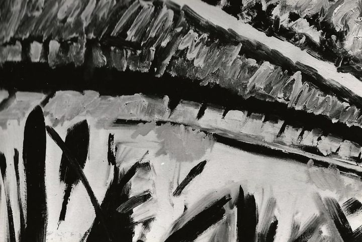 black-and-white-studies-3 - Painting,  15.8x31.5x0.2 in, ©2000 by S.Weinmann -                                                                                                                                                                          Abstract, abstract-570, Landscape