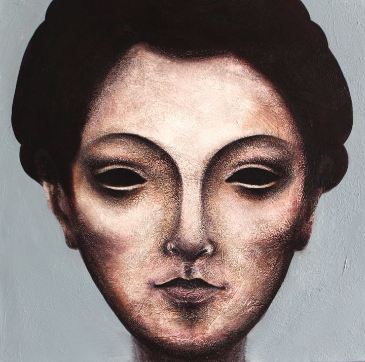 """Painting titled """"Stone Faces Collect…"""" by Saber Soleimani, Original Art,"""
