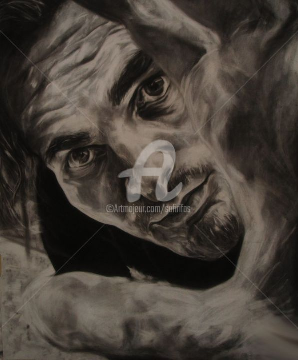 """Drawing titled """"The Curious Case of…"""" by Safir & Rifas, Original Art, Charcoal"""