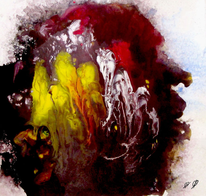 """Digital Arts titled """"All together"""" by Shahriar Aghakhani, Original Art, Watercolor"""