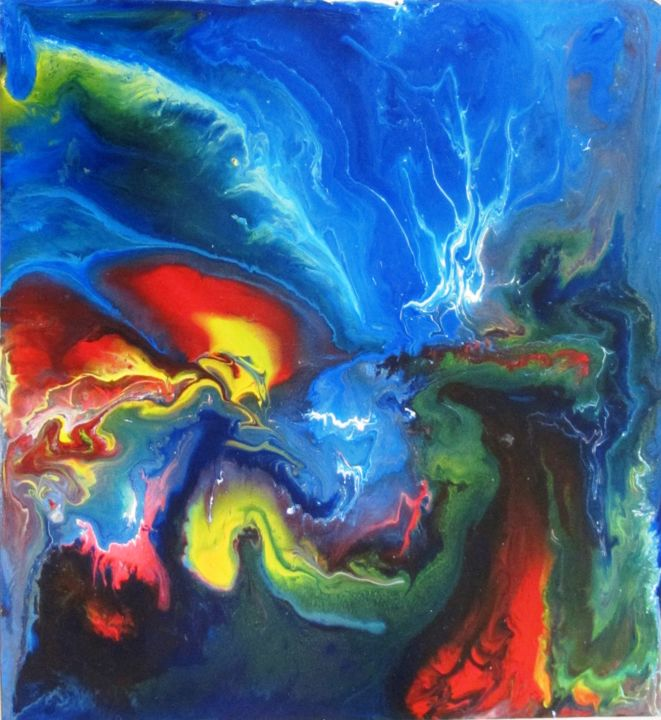 """Painting titled """"Abstract No. 124"""" by Shahriar Aghakhani, Original Art, Acrylic"""