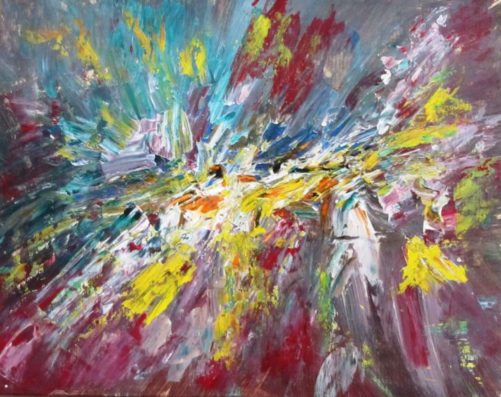 """Painting titled """"Abstract No. 136"""" by Shahriar Aghakhani, Original Art, Acrylic"""