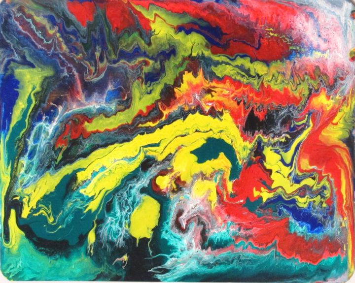"""Painting titled """"Abstract No.120"""" by Shahriar Aghakhani, Original Art, Acrylic"""
