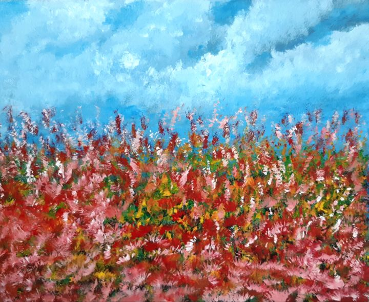 """Painting titled """"Abstract No. 480"""" by Shahriar Aghakhani, Original Art, Acrylic"""